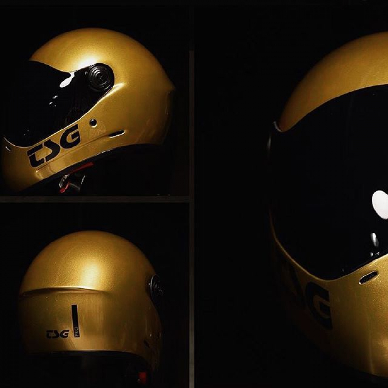 TSG Pass Pro GOLD Fullface-Helm (L) Spacial Edition