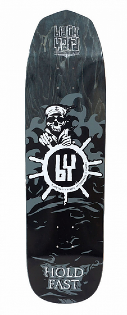Blackyard Skull Captain  Artist Edition 8.8 Skateboard Cruiser Deck