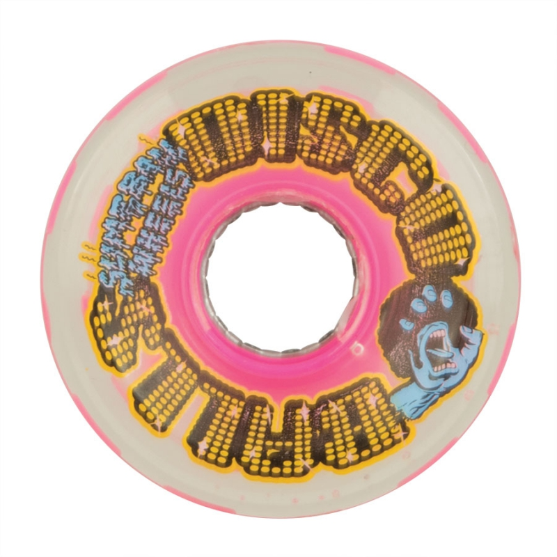 Rollen SANTA CRUZ - Slime Balls Disco Balls w/LED and bearings Pink 78a