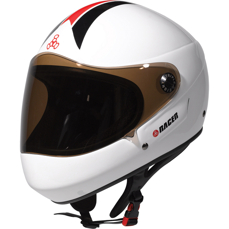 Triple Eight Racer Downhill Fullface Helm Weiß L/XL