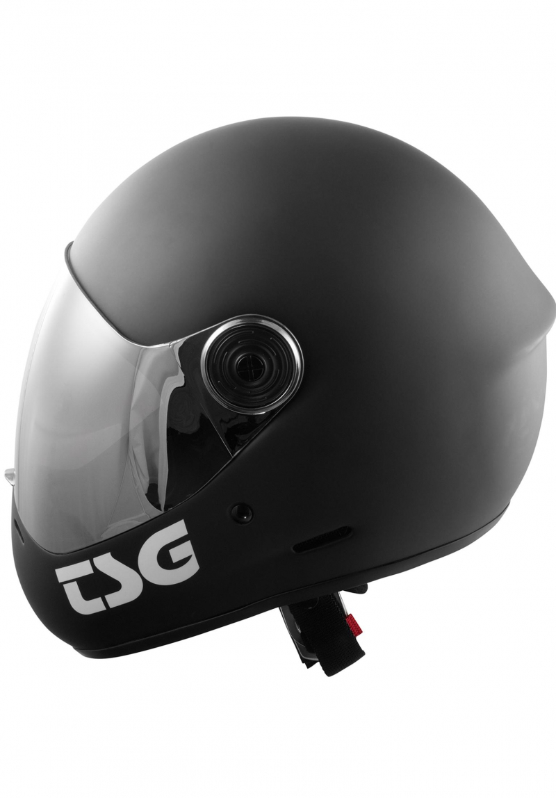 TSG PASS SOLID COLOR Full Face Helmet   Matt Black  Grösse S